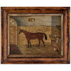 Oil Painting of a Racing Horse, circa 1840