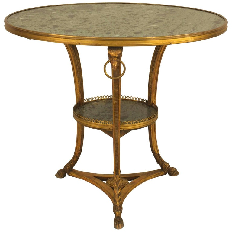 French Empire Style '19th Century' Round Gueridon Table