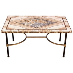 Mid 20th Century Italian Alabaster Marble Coffee Table