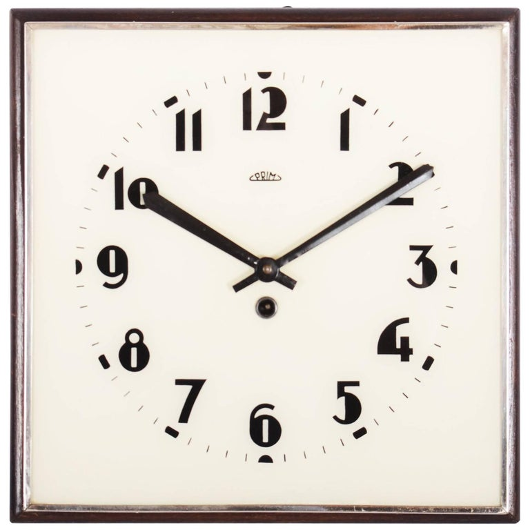 Beautiful, Rare Large Bauhaus Wall Clock