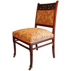 Herter Brothers Black Walnut Upholstered Side Chair