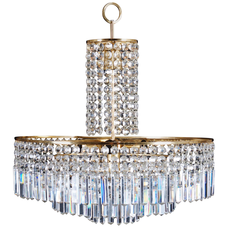 Beautiful Cut Crystal Chandelier by Bakalowits