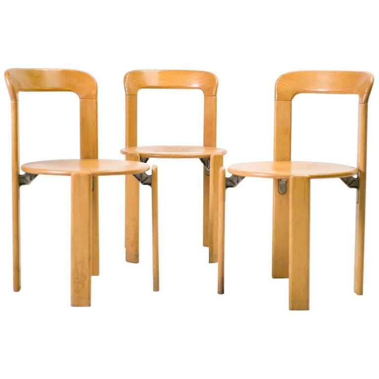 Set of Three Rey Chairs by Bruno Rey