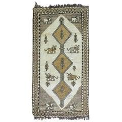 Vintage Persian Pictorial Gabbeh Rug