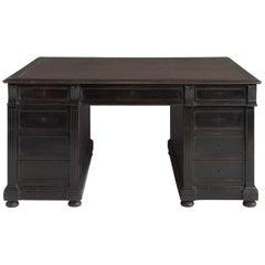 Ebonised Partners Desk, circa 1890