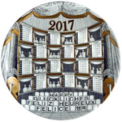 Barnaba Fornasetti Porcelain Calendar Plate, 1917, Number 397 of 700 Made