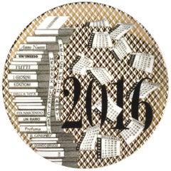Barnaba Fornasetti Porcelain Calendar Plate, 2016, Number 172 of 700 Made
