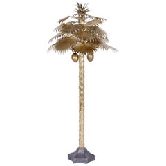 Midcentury Brass Palm Tree Sculpture