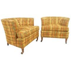Pair of Vintage Modern Club Chairs