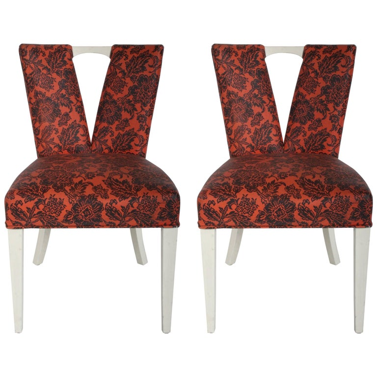 Pair of Paul Frankl for Johnson Corset Side Dining Chairs