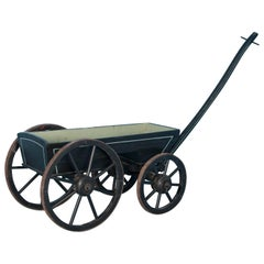 Small Painted Antique Child's Farm Wagon