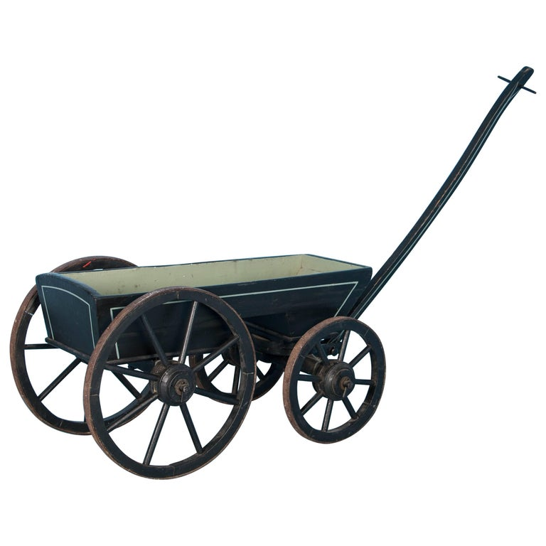 Small Painted Antique Childs Farm Wagon