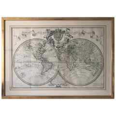 Extremely Rare Mappemonde a l'usage World Map Delisle, Guillaume Buache, 1730
