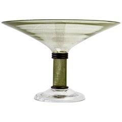 Monumental Huge Signed Seguso Vetri Darte Murano Glass Serving Bowl or Dish