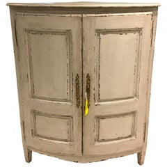 "Early 19th Century Antique French Directoire Corner Cabinet ""Encoignure"""