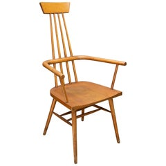 Paul McCobb Tobacco Stained Dr. No Windsor Chair Rustic Farmhouse Abstract Cabin