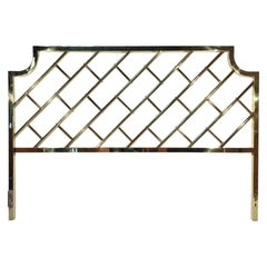 Brass Chippendale King-Size Bed Headboard