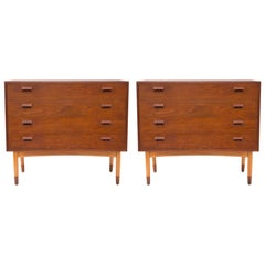 Pair of Borge Mogensen Teak and Beech Chests