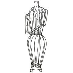 Michele Rizzi Figural Wire Sculpture Dress Form Art Made in Italy
