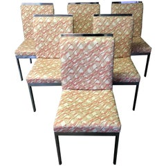 Milo Baughman for Design Institute of America Set of Six Dining Chairs