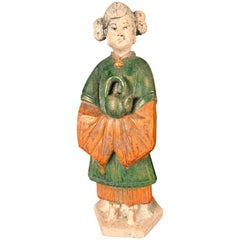 Important Ancient Chinese Tea Attendant Hand Glazed, Ming Dynasty 1368-1644