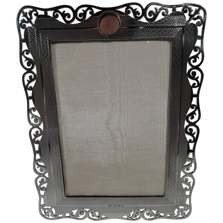 Antique Sterling Silver Easel Picture Frame By George W Shiebler