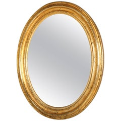 Antique French Oval Gilt Mirror, Still in Its Original Beautiful Condition