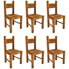 Six Dining Chairs by Jean Royère, France, circa 1955