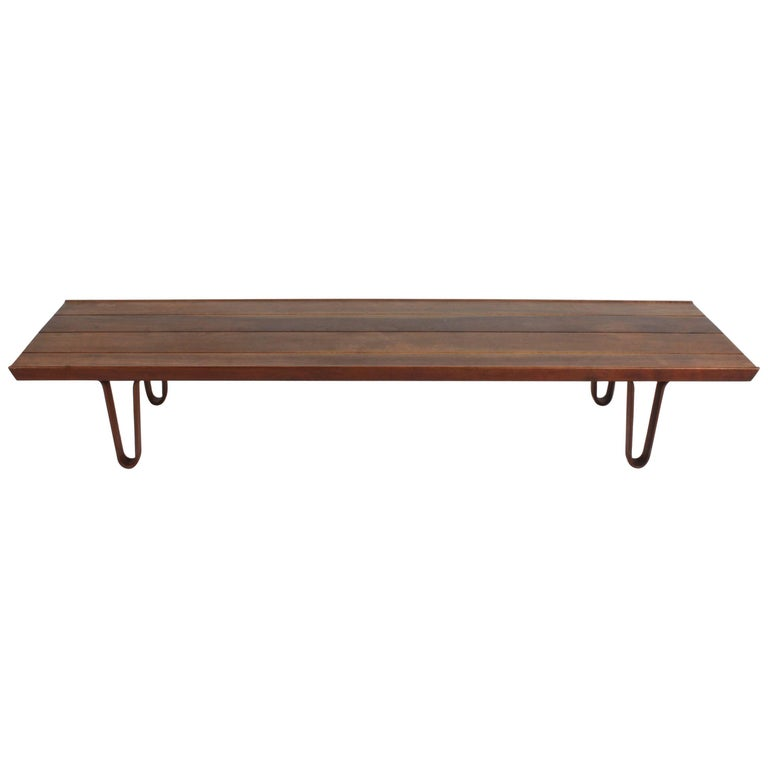 Edward Wormley for Dunbar Long John Bench or Coffee Table