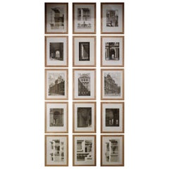 Set of 15 Engravings, Views and Details Architecture Le Louvre Paris, circa 1805