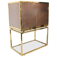 Copper and Brass 1960s Metal Cabinet