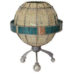 Unique Circuit Board Globe Table Lamp Artist Signed