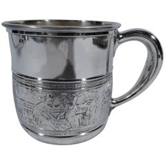 Antique Gorham Sterling Silver Baby Cup with Classical Frieze