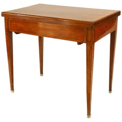 French Louis XVI Style Flip Top Game Table