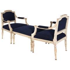 Gustavian Duchesse Brisee Set, circa 19th Century
