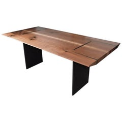Walnut Metro Dining Table with Steel Base