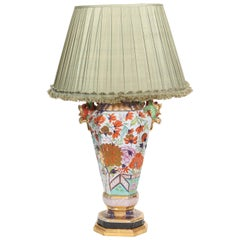 Large Mason's Ironstone Vase Mounted as a Lamp
