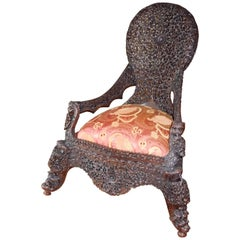 Rare Anglo-Raj Childs Chair or Slipper Chair  circa 1890