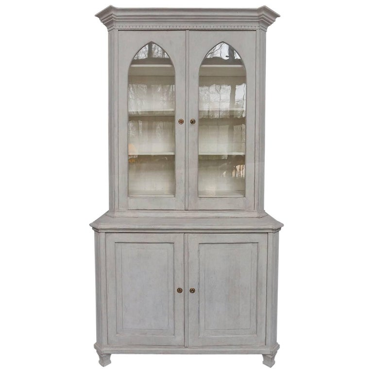 Swedish Display Cabinet with Original Glass