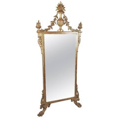 19th Century French Carved Giltwood Wall Mirror