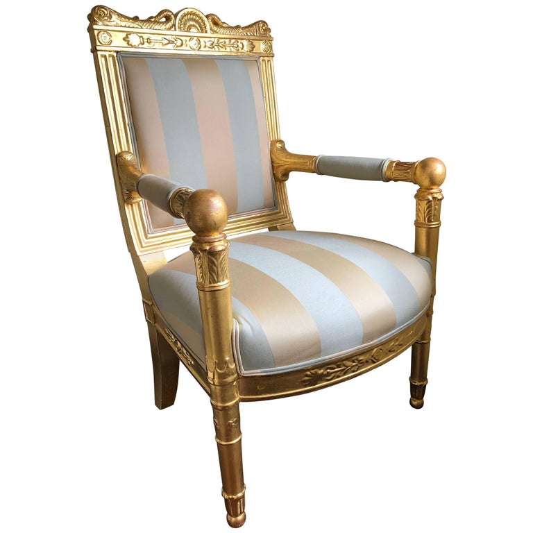 18th Century Giltwood Bergere by Georges Jacob