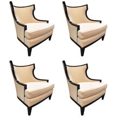 Set of Four Club Chairs by Barbary Barry