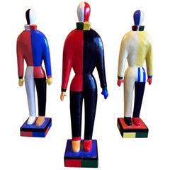 Set of Three Kazimir Malevich Guggenheim Museum Papier Mâché Figures 1996 SRGF