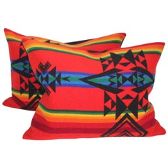 Pendelton Indian Design Camp Blanket Pillows, Pair