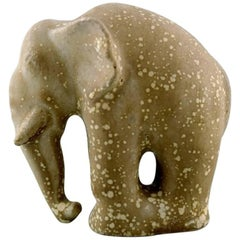 Arne Bang, Ceramics, Rare Elephant, Stamped AB 309