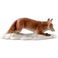 Rare Royal Copenhagen Figure, Fox, Design Harald Wiberg Decoration Number 373