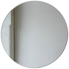 "Silver Orbis Round Mirror Frameless - Dia. 50cm / 19.7"""