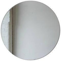 "Silver Orbis Round Mirror Frameless - Dia. 40cm / 15.8"""