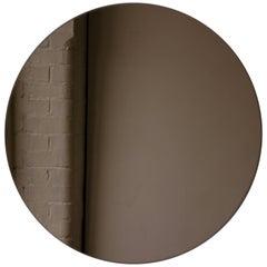 "Bronze Tinted Orbis Round Mirror Frameless - Dia. 79cm / 31.1"""