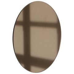 Bespoke Contemporary Bronze Tinted Orbis™ Round Mirror Frameless - Large